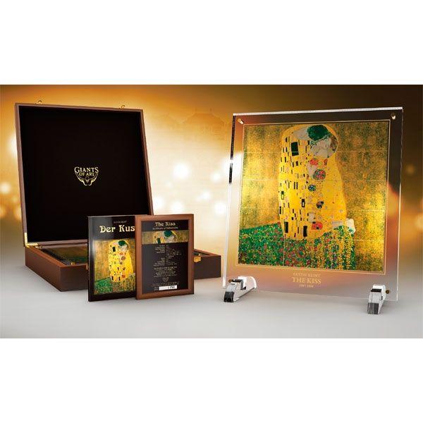 "Niue 2015 15 x 5$ Gustav Klimt`s ""The Kiss"" Giants of Art Proof Silver Set"