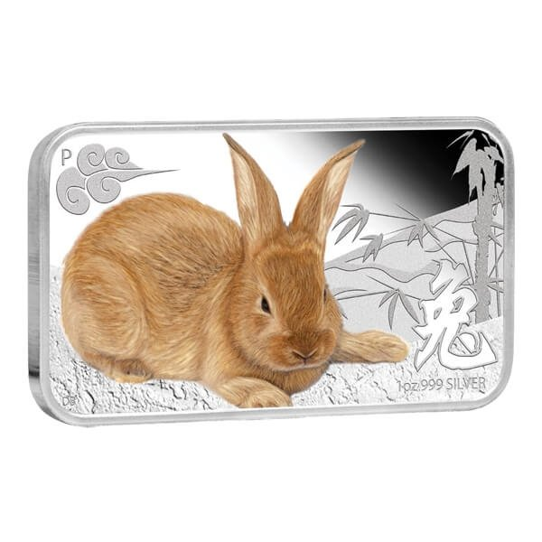 Year of the Rabbit Rectangle Proof Silver Set 4x1$ Cook Islands 2011