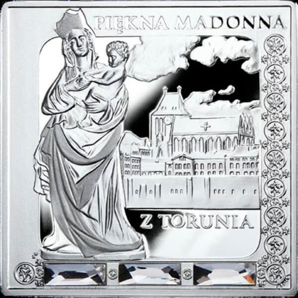 Beautiful Madonna of Torun Missing Works of Art  Proof Silver Coin 1$ Niue 2014
