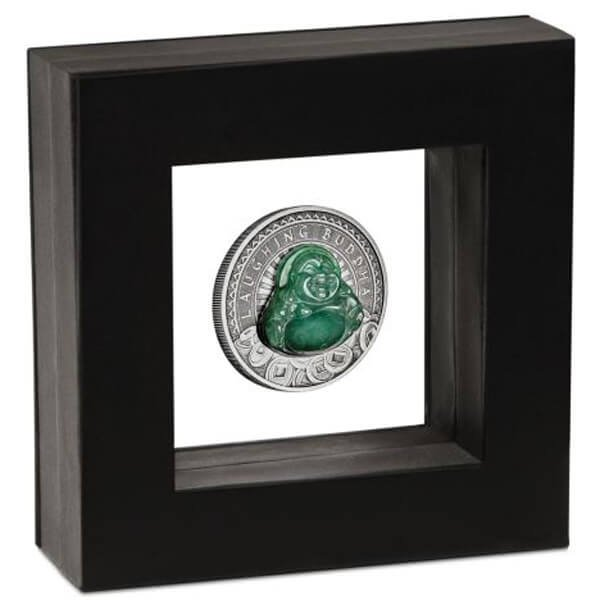 Laughing Buddha 1 oz Antique Finish Silver Coin 1$ Tuvalu 2019