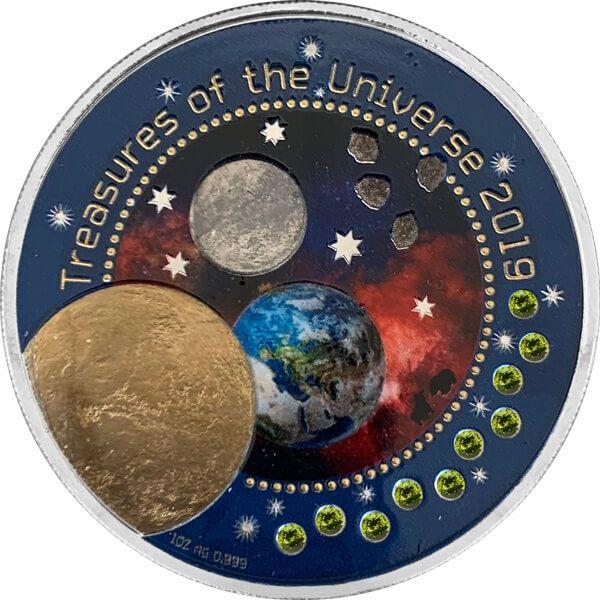 Treasures of the Universe III 1 oz BU Silver Coin 5 Cedis Republic of Ghana 2019