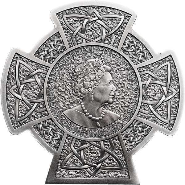Manannan 1st King of Mann 3 oz Antique finish Silver Coin 5 pounds Isle of Man 2019