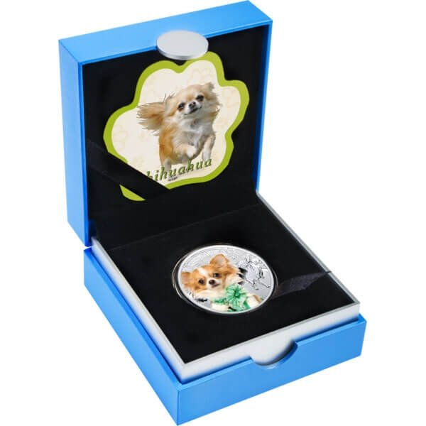 Chihuahua Man's Best Friends Proof Silver Coin 1$ Niue 2014