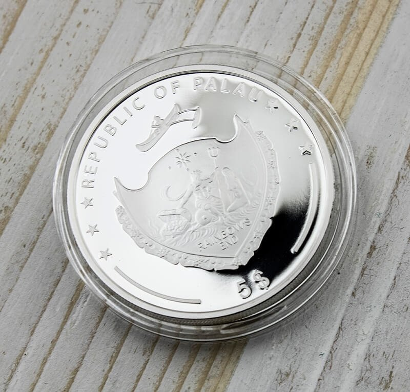Palau 2015 5$ Pearl - Rainbow of the Sea 1oz Proof Silver Coin