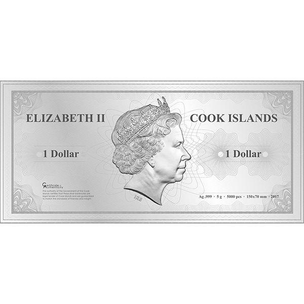 Tokyo Skyline Dollar Proof-like Silver Coin 1$ Cook Islands 2017