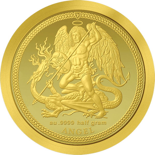 1/64 Angel 0.5g Proof Gold Coin Isle of Man 2017