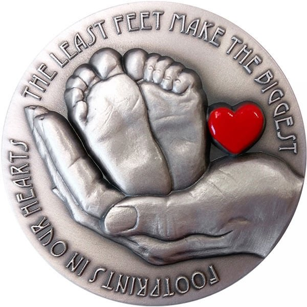 Miracle of Life MAX Emotions 3 oz Antique finish Silver Coin 5$ Niue 2017