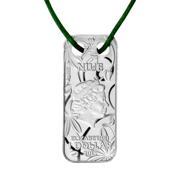 Niue 2015 1$ Butterfly Pendant Proof Silver Coin