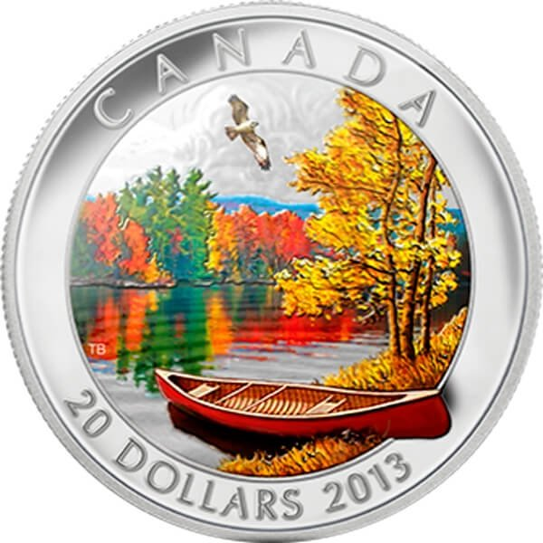 Canada 2013 20$  Autumn Bliss Proof Silver Coin