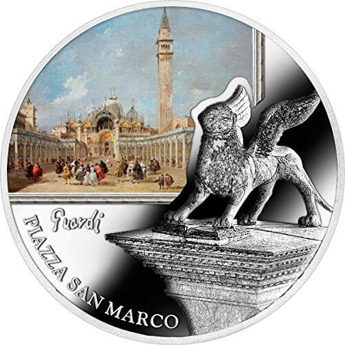 SOS. Venice – End or beginning ?  - Piazza San Marco Proof Silver Coin 2$ Niue 2016