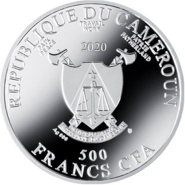 Music Golden Five Gustav Klimt Proof Silver Coin 500 Francs Cameroon 2020