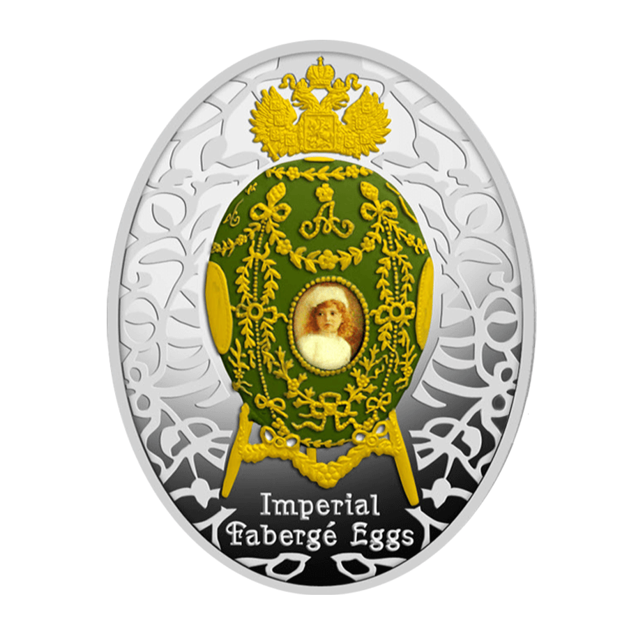 Niue 2015 1$ Alexander Palace Egg Imperial Faberge Eggs Proof Silver Coin
