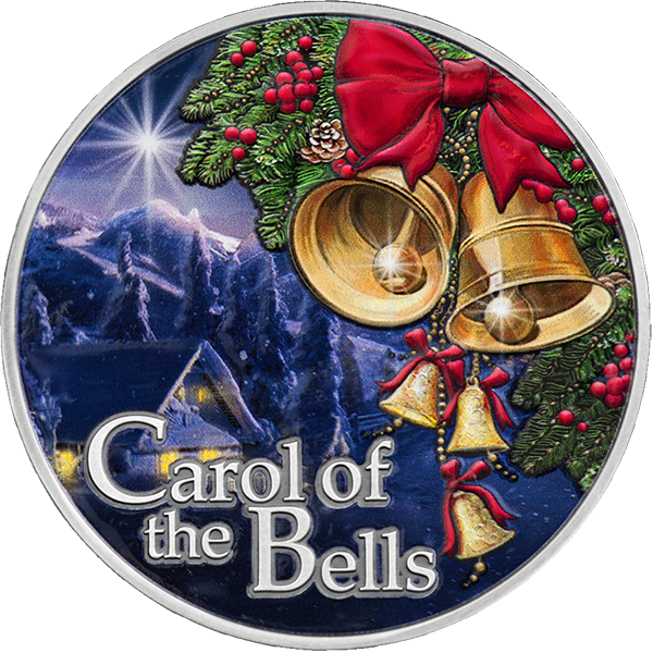 Carol of the Bells 1/2 oz Antique finish Silver Coin 500 Francs CFA Cameroon 2021