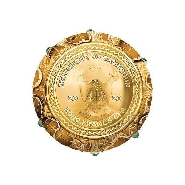 Clover Leaf Egg 7 oz Proof Silver Coin 5000 Francs CFA Cameroon 2020