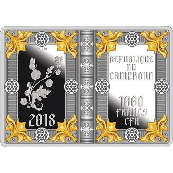 Rothschild Prayerbook Proof Silver Coin 1000 Francs Cameroon 2018