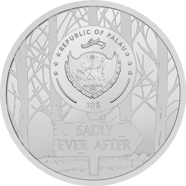 Red Riding Hood 2 oz Antique finish Silver Coin 10$ Palau 2019