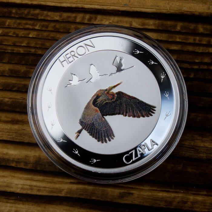 Symbols of Nature - Heron Proof Silver Coin 10 g 1$ Niue 2015