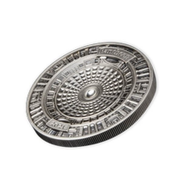 Pantheon 4-Layers 100g Antique Finish Silver Coin 10$ Solomon Islands 2021