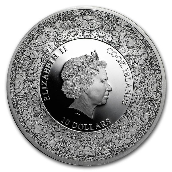 Van Gogh 125th Anniversary Royal Delft Series 50g Proof Silver Coin 10$ Cook Islands 2015