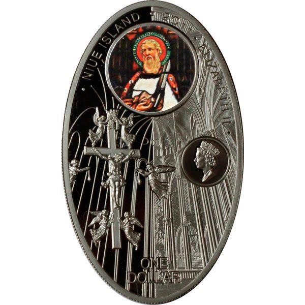 Catedral de la Santa Creu i Santa Eulalia  Gothic cathedrals Proof Silver Coin 1$ Niue 2011