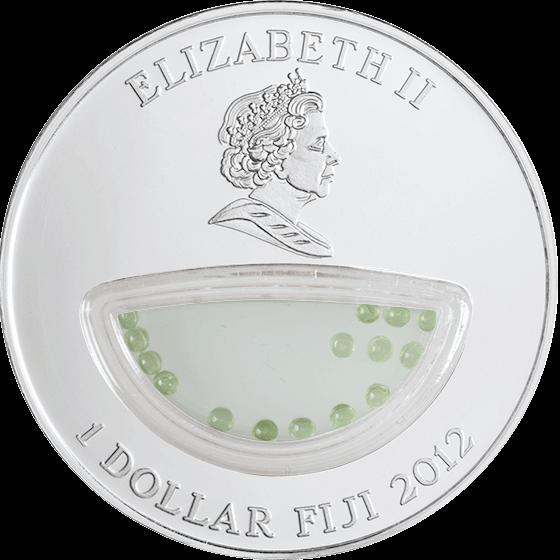 Fiji 2012 1$ USA - Peridot Treasures of Mother Nature Proof Silver Coin