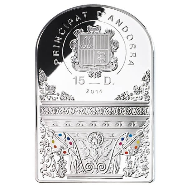 Andorra 2014 15 diners The Madonna in Sorrow by Il Sassoferrato Madonna in Art 2014 Proof Silver Coin