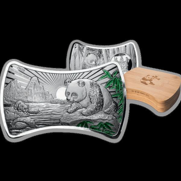 Panda Bone Shape 1 Kilo Proof-like Silver Coin 10$ Fiji 2020