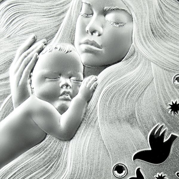 Motherhood 1/2 oz Proof Silver Coin 1$ Niue 2021