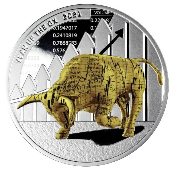 Time to Win Year of the Ox 1 oz Proof Silver Coin 1000 Francs CFA Cameroon 2021