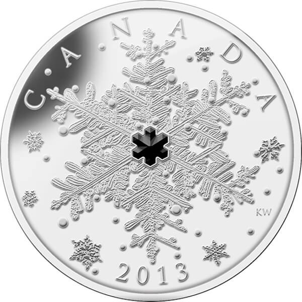 Canada 2013 20$ Winter Snowflake Silver Proof Coin