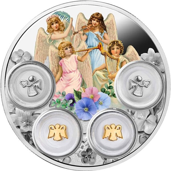 Your Angels 77.75g  Proof Silver Coin 5$ Niue 2019