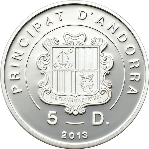 Andorra 2013 5 diners Papilio machaon - The Swallowtail Butterfly Exotic Butterflies 3D Proof Silver Coin