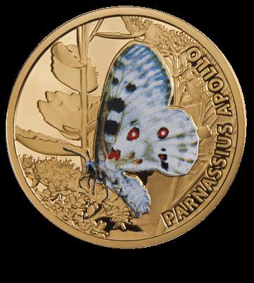 Apollo Butterflies Proof Gold Coin 5$ Niue 2011