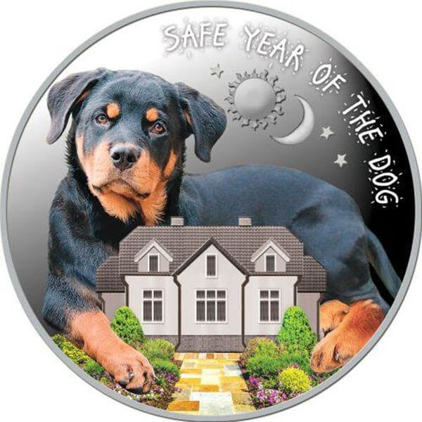 Safe Year of the Dog Proof Silver Coin 100 Denars Macedonia 2018