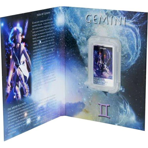 The Gemini Zodiac Series Art by Kagaya Proof Silver Coin 2$ Niue 2011