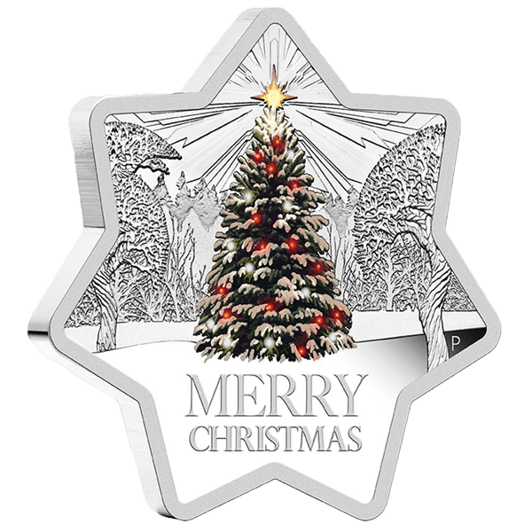 Australia 2015 1$  Christmas - Star Shaped Coin  1oz Proof Silver Coin