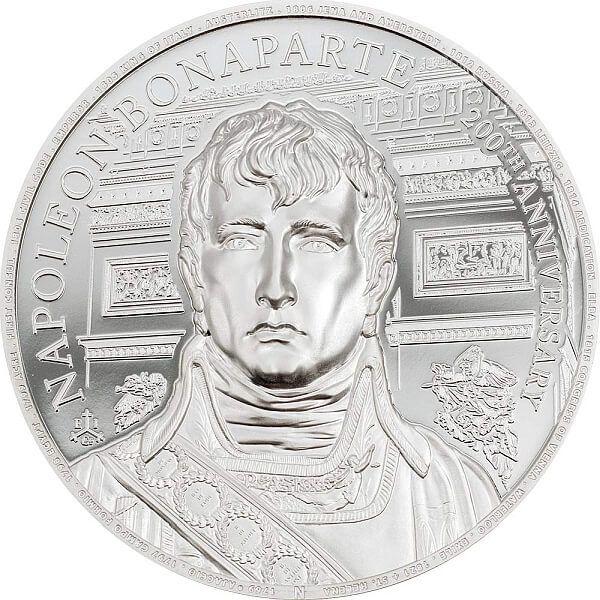 Napoleon 200th Anniversary 1 oz Proof Silver Coin 1 pound Saint Helena 2021