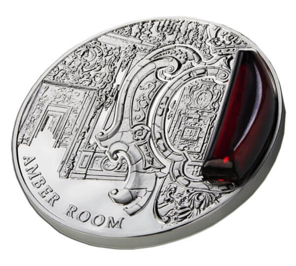 Niue 2012 2$ Amber Room Mysteries of History 2 oz Proof Silver Coin