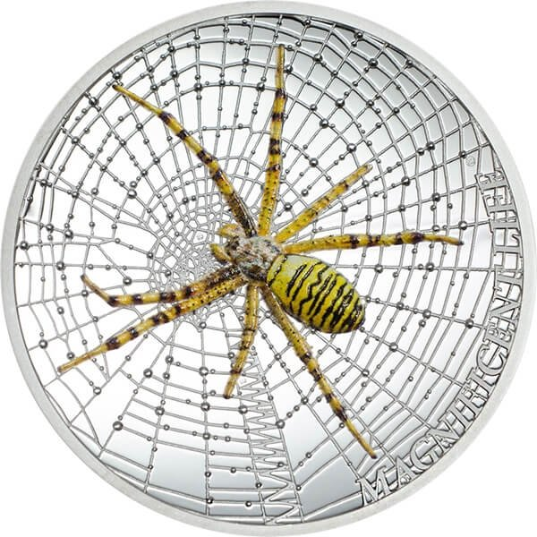 Cook Islands 2016 5$ Wasp Spider Magnificent Life 2016 1 oz Proof Silver Coin