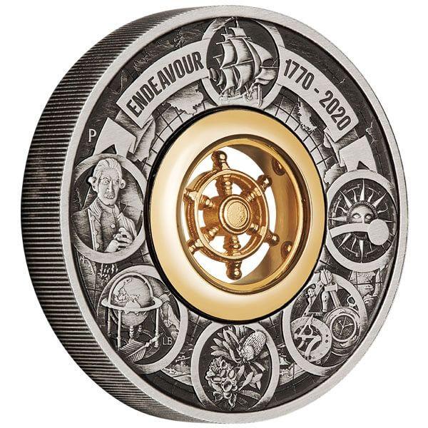Endeavour 2 oz Antique finish Silver Coin 2$ Australia 2020