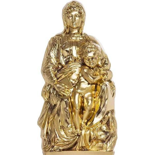 Madonna of Bruges 3 oz Silk finish Silver Coin 20$ Cook Islands 2020