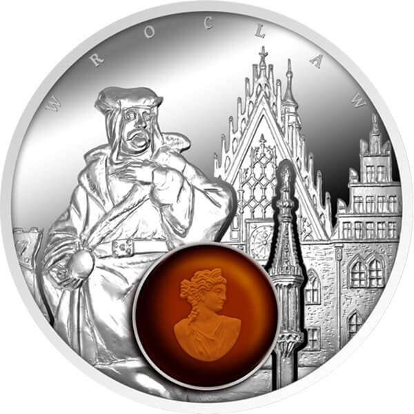 Wroclaw Amber Road 2017 Proof Silver Coin 1$ Niue 2017