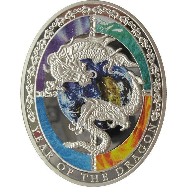 Niue 2012 1$ Year of the Dragon - Chinese Proof Silver Coin