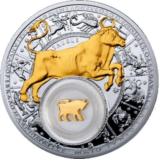 Taurus Belarus Zodiac 2013 Proof Silver Coin 20 rubles Belarus 2013