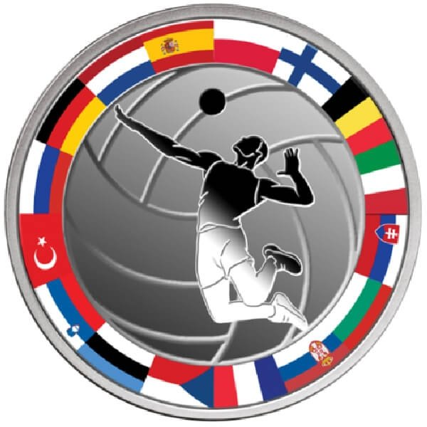 Volleyball Proof Silver Coin 1$ Niue 2017