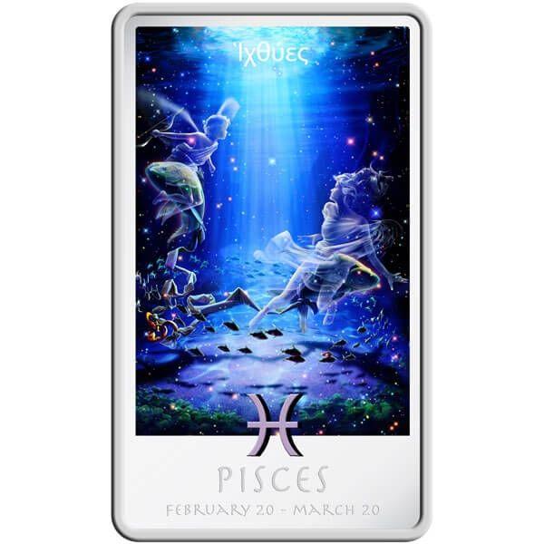 The Pisces Zodiac Series Art by Kagaya Proof Silver Coin 2$ Niue 2011