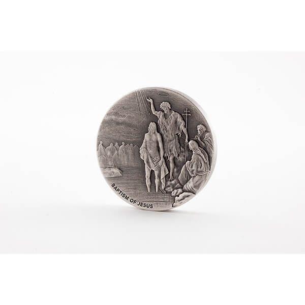Niue 2017 2$ Biblical Coin The Baptism of Jesus 2 oz BU Silver Coin