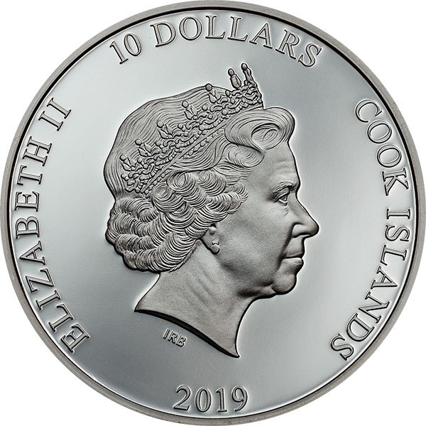 Anchor Fair Winds 2 oz Proof Silver Coin 10$ Cook Islands 2019