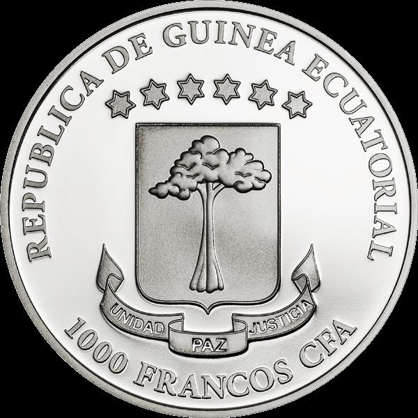Equatorial Guinea 2015 1000 Francos Exotic Butterflies 3D - Mariposas Exoticas Proof Silver Coin