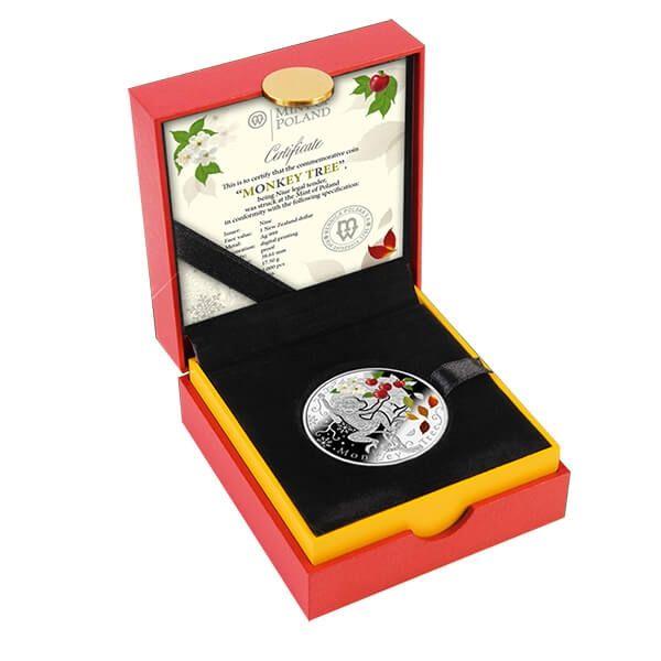 Monkey Tree Lunar Calendar Proof Silver Coin 1$ Niue 2016